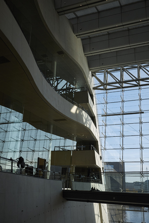 Copenhagen, Denmark - October 10, 2018 : View of the Royal Library interior