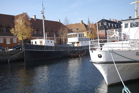 Copenhagen, Denmark - October 10, 2018: View of Frederiksholms kanal Stock Photo
