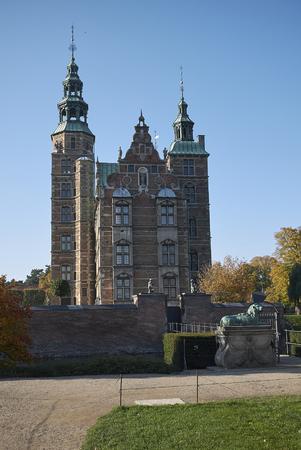 Copenhagen, denmark - October 10, 2018 : View of Rosenborg castle Editorial