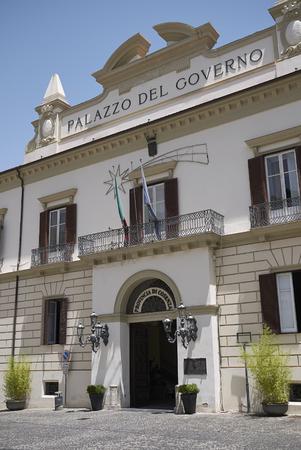 Cosenza, Italy - June 12, 2018 : View of Palazzo del Governo in Cosenza