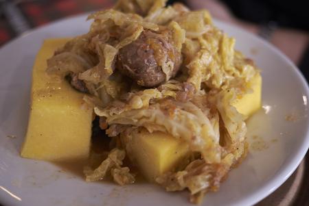 cassoeula with polenta
