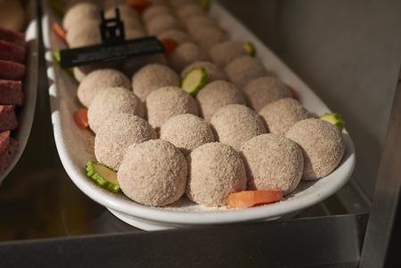 Raw meat balls Stock Photo