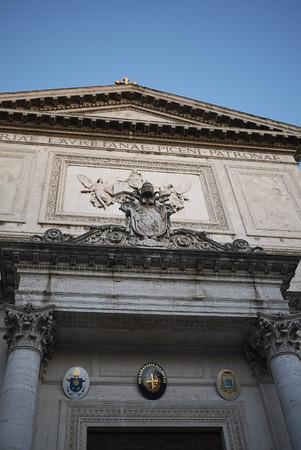 Roma, Italy - February 05, 2019 : San Salvatore in Lauro church Editorial
