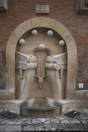 Roma, Italy - February 09, 2019 : View of the Books Fountain