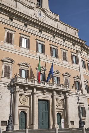Roma, Italy - February 09, 2019 : View of Palazzo Montecitorio