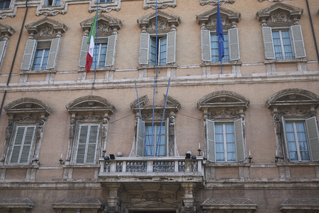 Roma, Italy - February 09, 2019 : View of Palazzo Madama Éditoriale