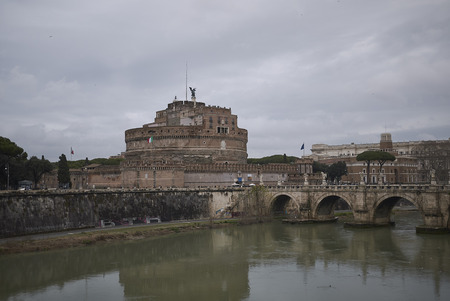 Roma, Italy - February 01, 2019 : View of the Mausoleum of Hadrian