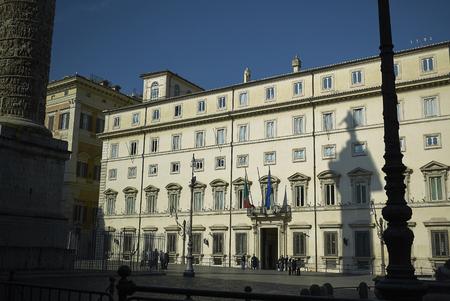 Roma, Italy - February 09, 2019 : View of Palazzo Chigi Sajtókép
