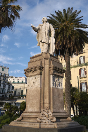 Naples, Italy - March 25, 2019 : View of Nicola Amore monument