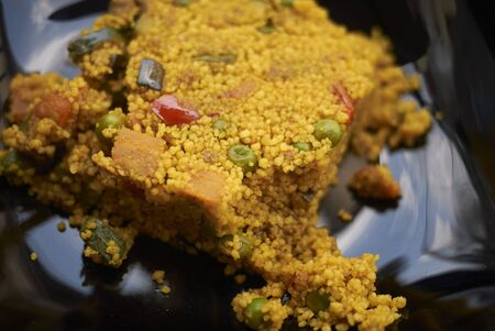 Vegetarian cous cous with turmeric 写真素材