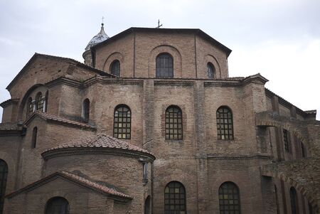 Ravenna, Italy - August 14, 2019 : View of San Vitale Basilica exterior