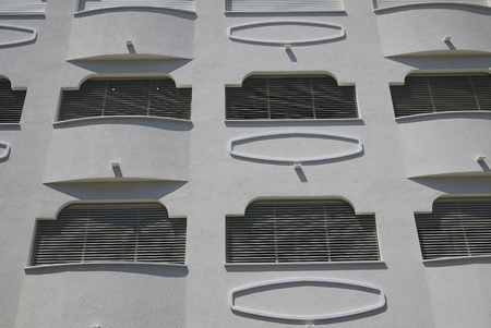 Milano Marittima, Italy -  July 21, 2019 : Detail of a building