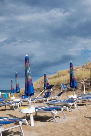 Lido Morelli, Italy - September 03, 2020: View of Lido Morelli beach club