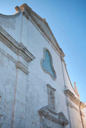 Monopoli, Italy - September 04, 2020: View of San Salvatore church Editorial