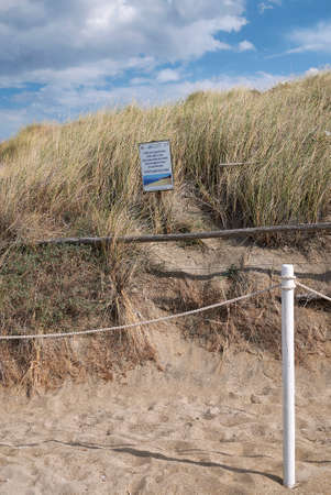 Lido Morelli, Italy - September 03, 2020: View of the sand dunes Editorial