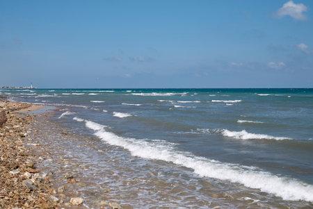 Savelletri, Italy - September 08, 2020: View of the coastline