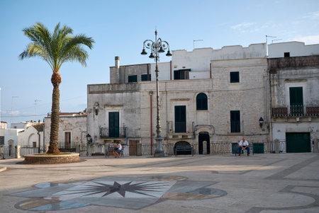 Ceglie, Italy - September 07, 2020: View of Piazza del Plebiscito Editorial
