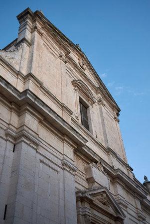 Ceglie, Italy - September 07, 2020: View of Collegiata di Santa Maria Assunta