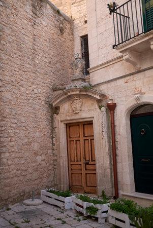 Ceglie, Italy - September 07, 2020: House entrance in Ceglie Editorial