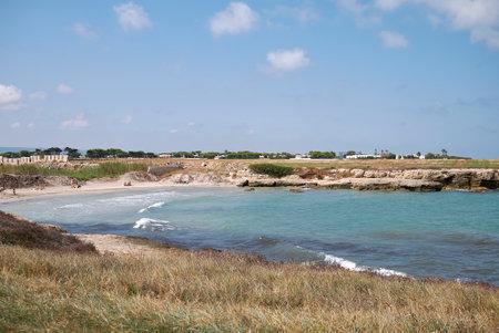Diano Marina, Italy - September 08, 2020: View of the beach