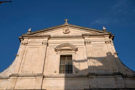 Ceglie, Italy - September 07, 2020: Collegiata di Santa Maria Assunta church Editorial