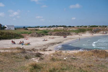 Diano Marina, Italy - September 08, 2020: Tourists at the beach