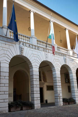 Brescia, Italy - August 22, 2020: View of Government Palace