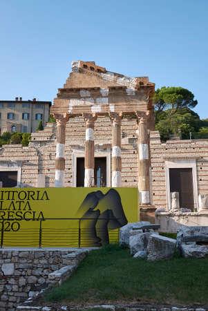 Brescia, Italy - August 22, 2020: View of Capitolium