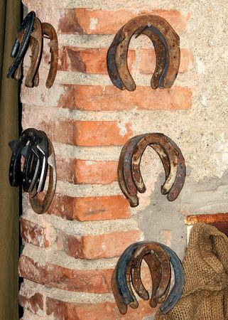 ferro: in the picture some horseshoe