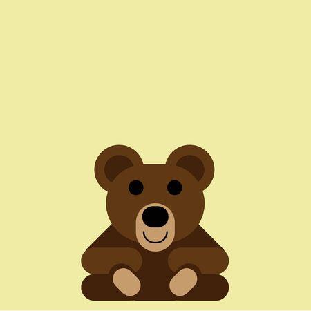 A Simple Flat Vector Teddy Bear Ilustración de vector