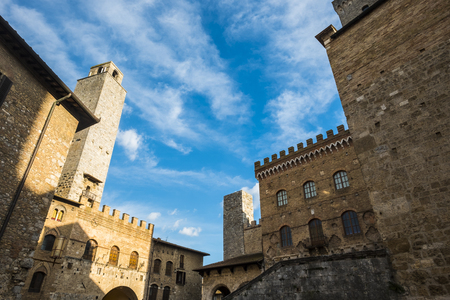 San Gimignano city in Tuscany Italy with his ancient historical and wonderful old towers and buildings. Vacation place with a lot of tourism