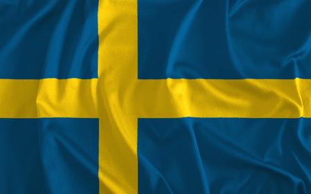 Flag of Sweden Background Banque d'images - 104183353