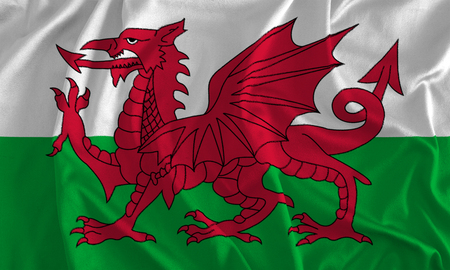 Flag of Wales Background Stock Photo