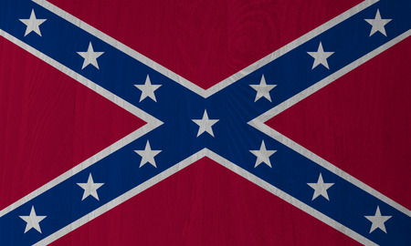 Dixie, Confederate Flag on a Wood Background