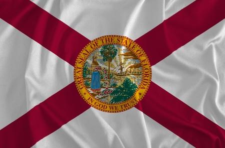 Flag of Florida Background, The Sunshine State Stock Photo
