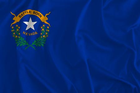 Bandera de fondo de Nevada, estado de plata