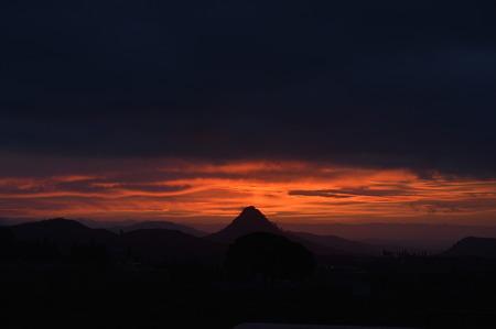 Picturesque Sicilian Sunrise, Mazzarino, Caltanissetta, Italy, Europe