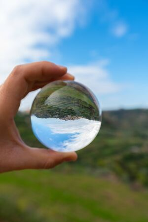 The Town of Mazzarino in the Lensball, Caltanissetta, Sicily, Italy, Europe