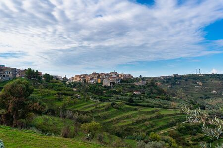 Cityscape of Mazzarino, Caltanissetta, Sicily, Italy, europe