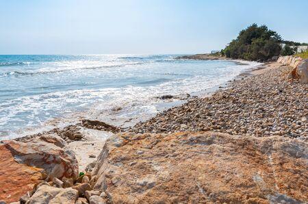 Beautiful Mediterranean Coastline at Marina di Ragusa, Sicily, Italy, Europe