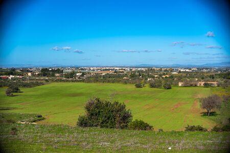 View of Acate, Niscemi and Mazzarino from Vittoria, Ragusa, Sicily, Italy, Europe