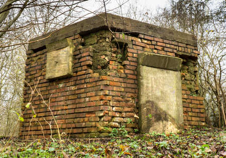Abandoned and sealed up WW2 British pill box bunker.