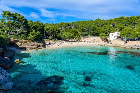 mallorca: Cala Gat at Ratjada, Mallorca - beautiful beach and coast Editorial