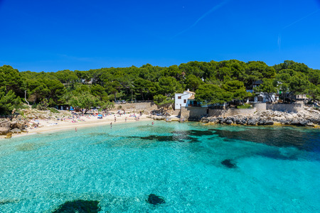 gat: Cala Gat at Ratjada, Mallorca - beautiful beach and coast Editorial
