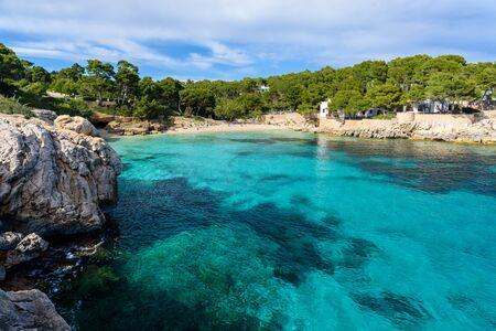Cala Gat at Ratjada, Mallorca - beautiful beach and coast Banco de Imagens