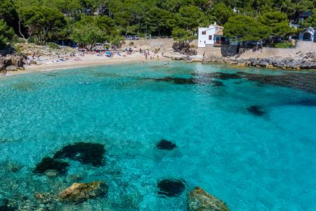 mallorca: Cala Gat at Ratjada, Mallorca - beautiful beach and coast Stock Photo