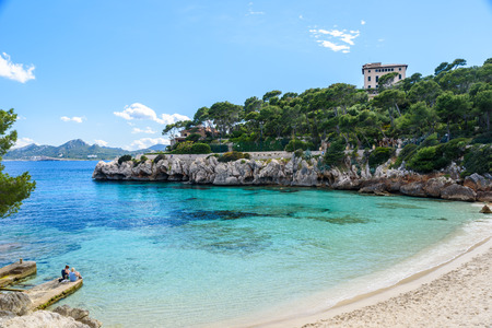 gat: Cala Gat at Ratjada, Mallorca - beautiful beach and coast Stock Photo