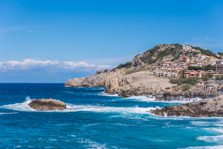 mallorca: Coast of Cala Ratjada of Mallorca, Spain