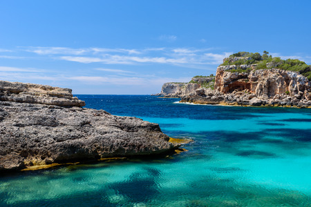 mallorca: Calo Des Moro - beautiful bay of Mallorca, Spain Stock Photo