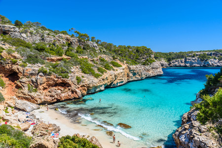 Calo Des Moro - beautiful bay of Mallorca, Spain Stock Photo